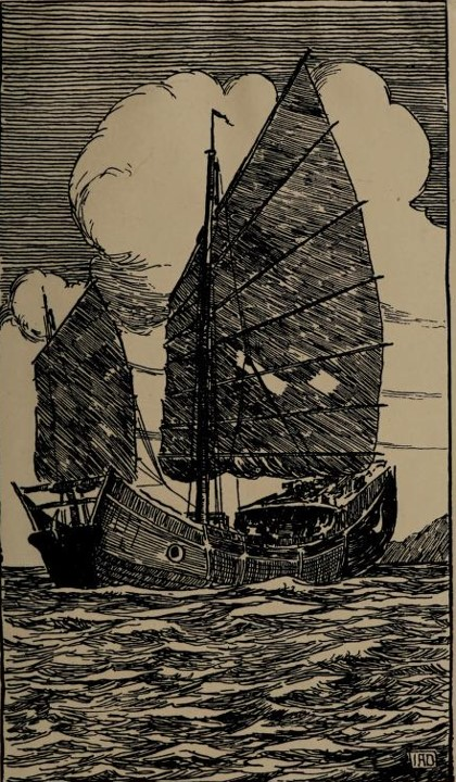 - Donnelly, Ivon A. Chinese Junks: a book of drawings in black and white. ShanhaiL Kelly and Walsh. 1920. Available from Internet Archive here.