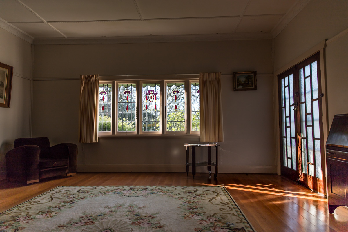 Sunlight streaming through lead light window Geelong home Geelong photographer Lauren McAdam