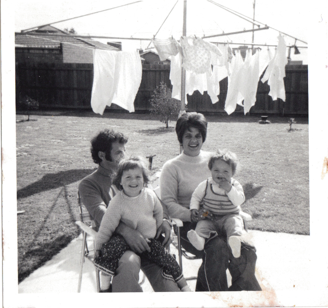 Geelong family in front of their washing line - The Mother's Book - A memoir photo book and interview