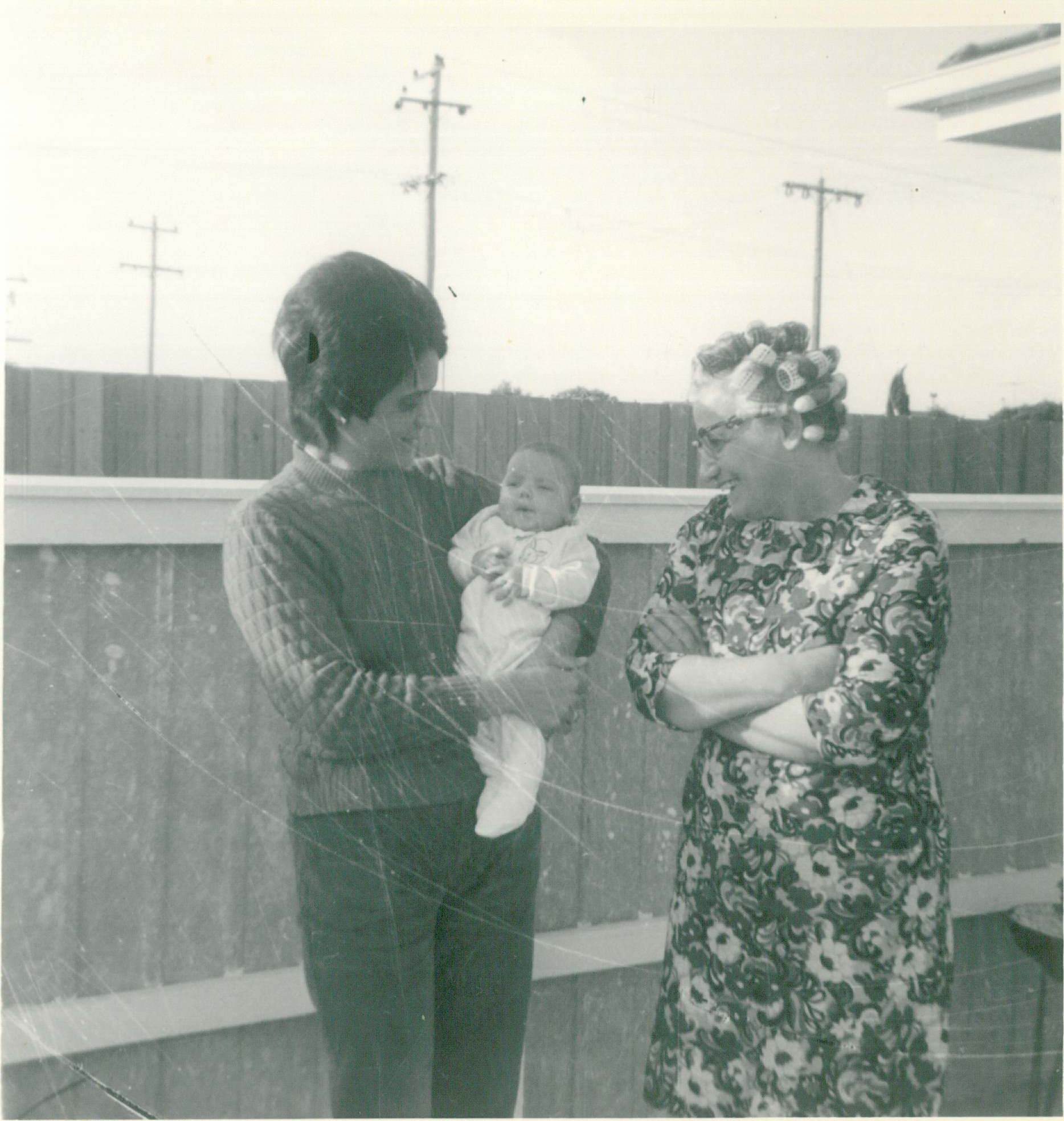 Three generations of women from the same family from Geelong including a new baby