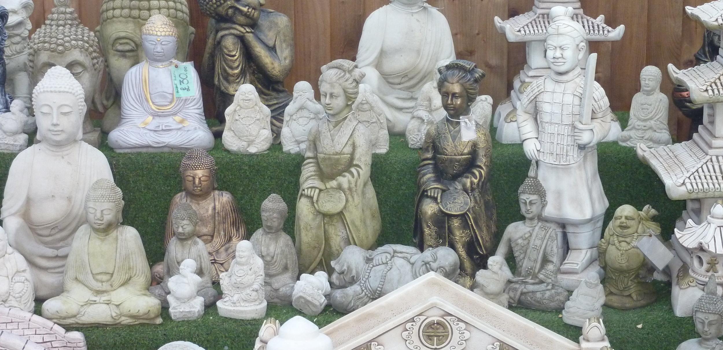 Cast In Stone garden ornaments Wendling Dereham oriental buddha