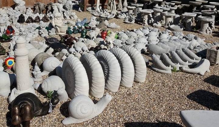 Cast In Stone garden ornaments Wendling Dereham animals snails