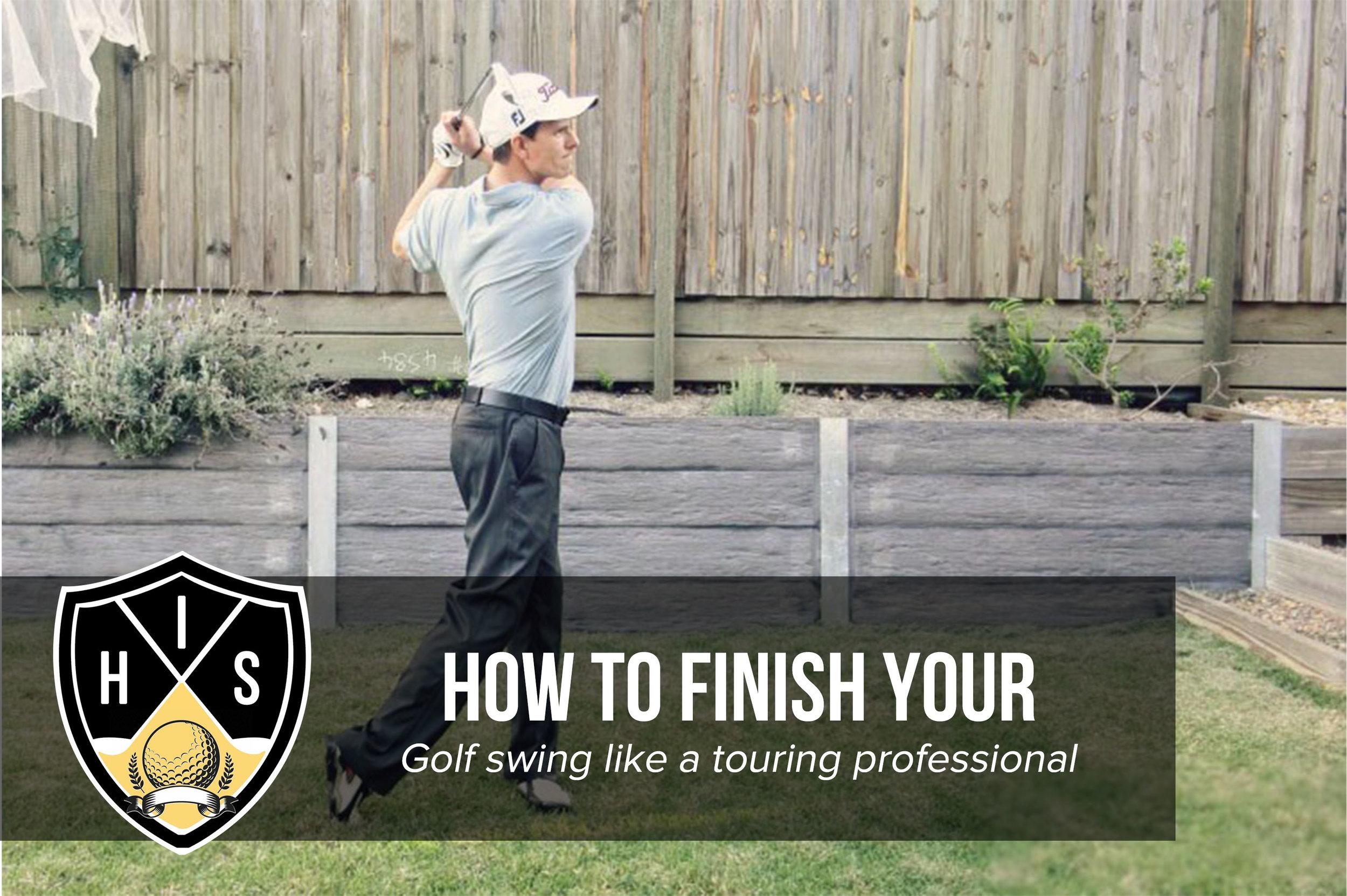 Golf Swing Follow Through