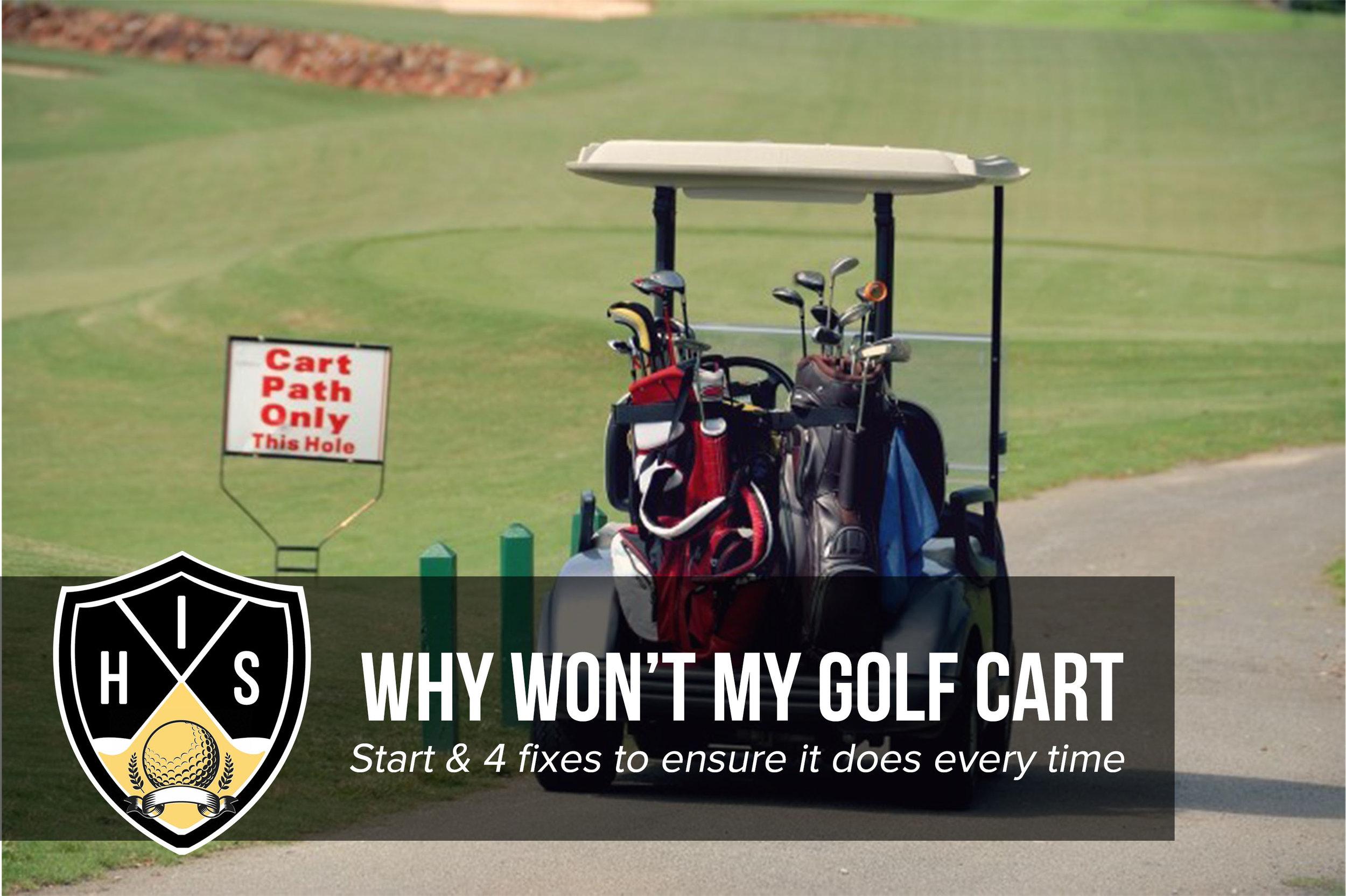 golf cart won't start