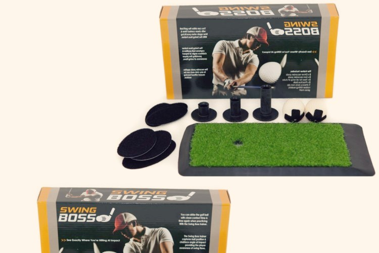The perfect golf swing can be achieved by using the Swing Boss golf training aid
