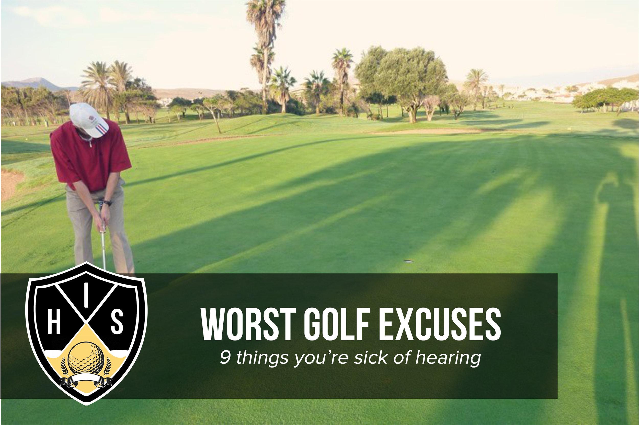 Golf Excuses