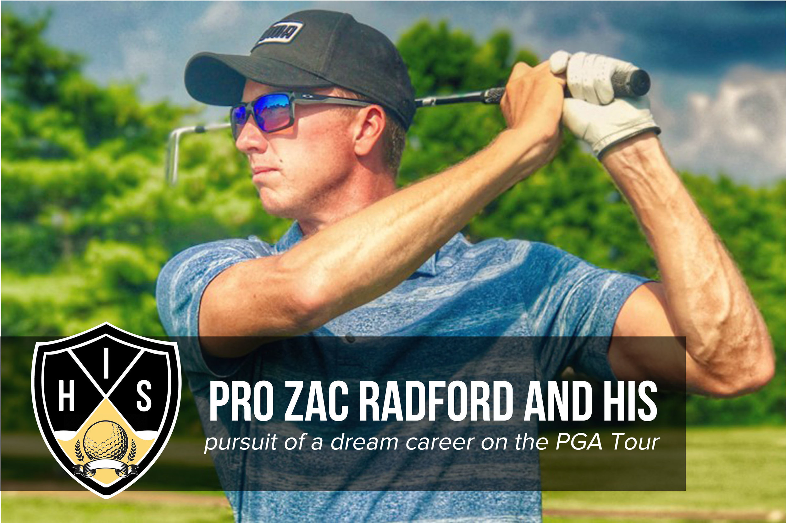 Zac Radford staring down another solid golf iron shot