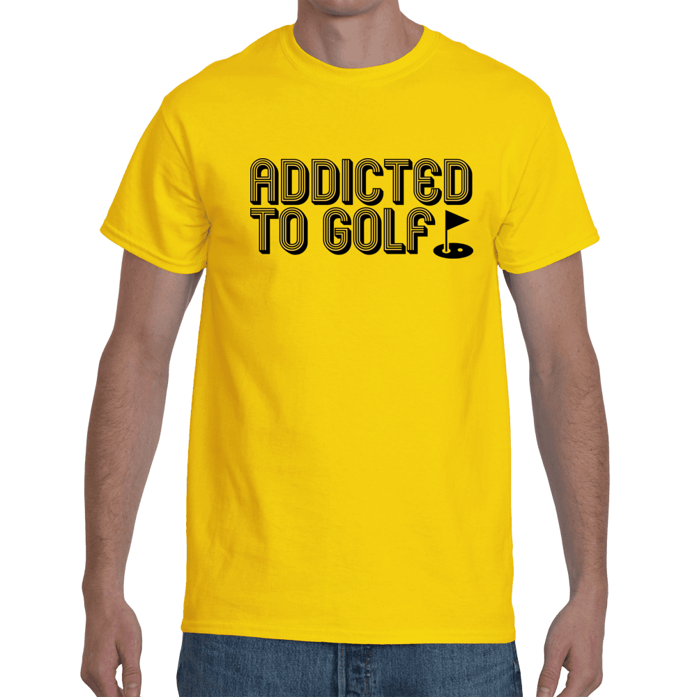 Addicted to golf - yellow