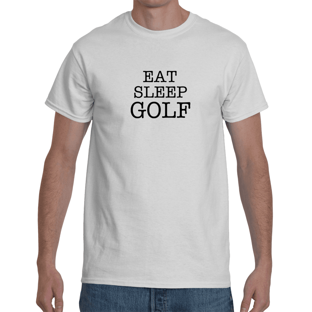 Eat sleep golf - white