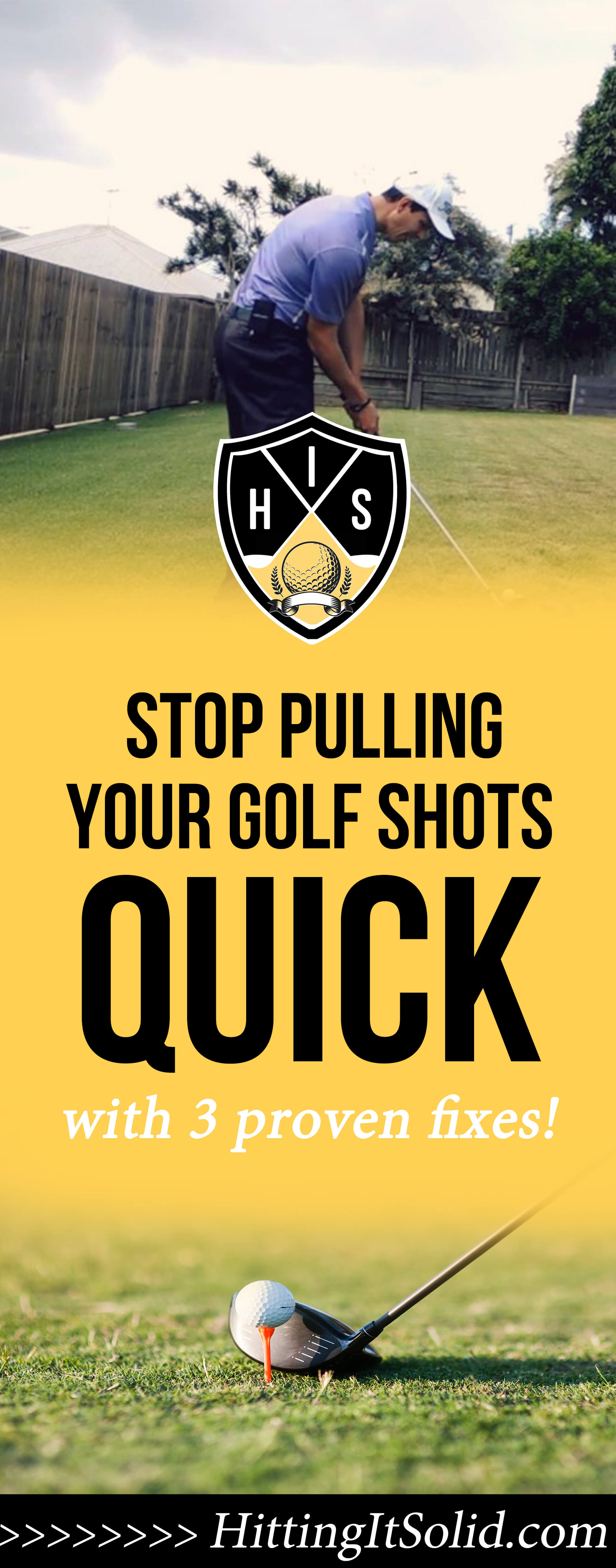 If you want to know how to stop pulling golf shots fast you need to know what the causes are and how you can fix them. These 3 simple methods will fix your pulled golf shots so you can hit straighter shots and shoot lower scores