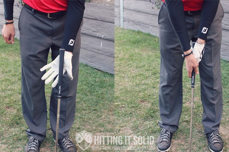 Fix your golf slice by fixing a weak golf grip that contributes to an open clubface.