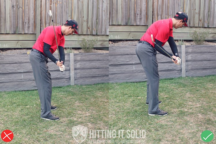 Getting the club to split the right forearm in the downswing gets the club on plane fixes the golf slice.