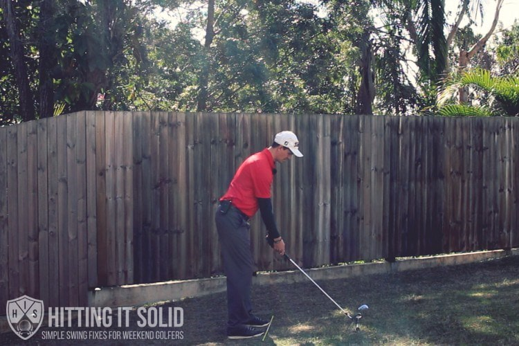 Getting a square set up parallel to your target line is key to getting rid of your golf slice
