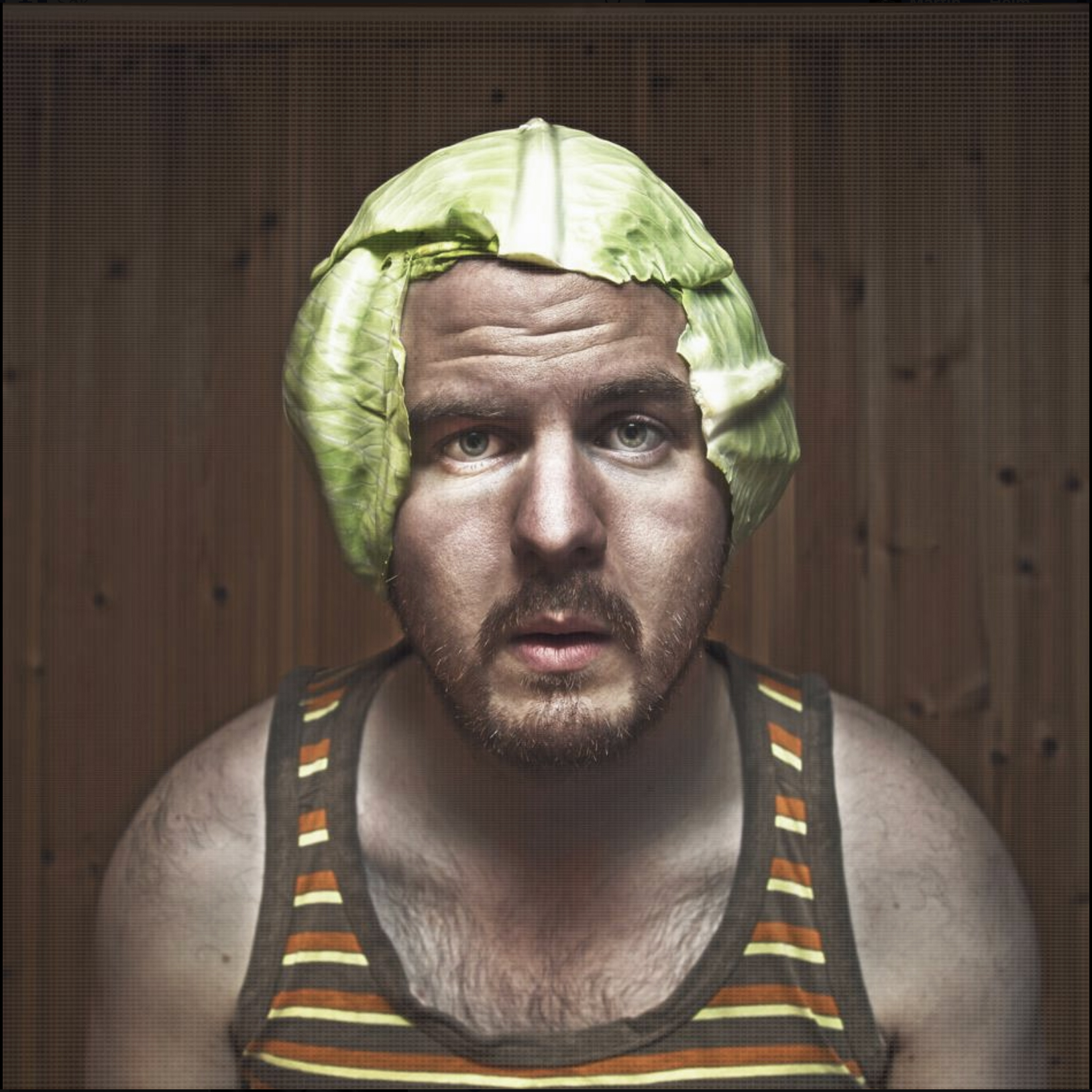 Photo by: Martin Losvik: (Self portrait with cabbage)
