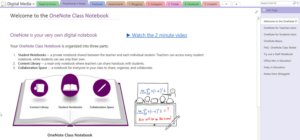 OneNote 101:   Learn different organizational techniques for both yourself and your students. Learn how to make your lessons more interactive and even experiment with different ways to flip your classroom. Open your doors to parents by email address.