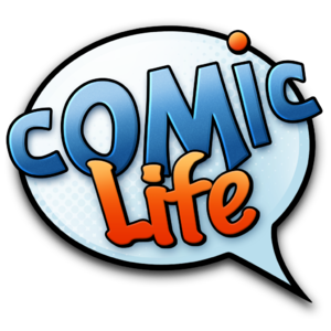 Comic Life - It is versatile software that allows you to not only create comic style documents but it has templates for newspapers articles, storyboards and more...