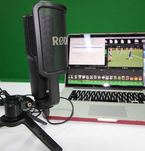 Rode Tabletop Mic (x2) - This highly sensitive mic plugs directly into your computer for studio quality recordings. Be sure to hav a quite space because this powerful mic will pickup the tiniest of noises.