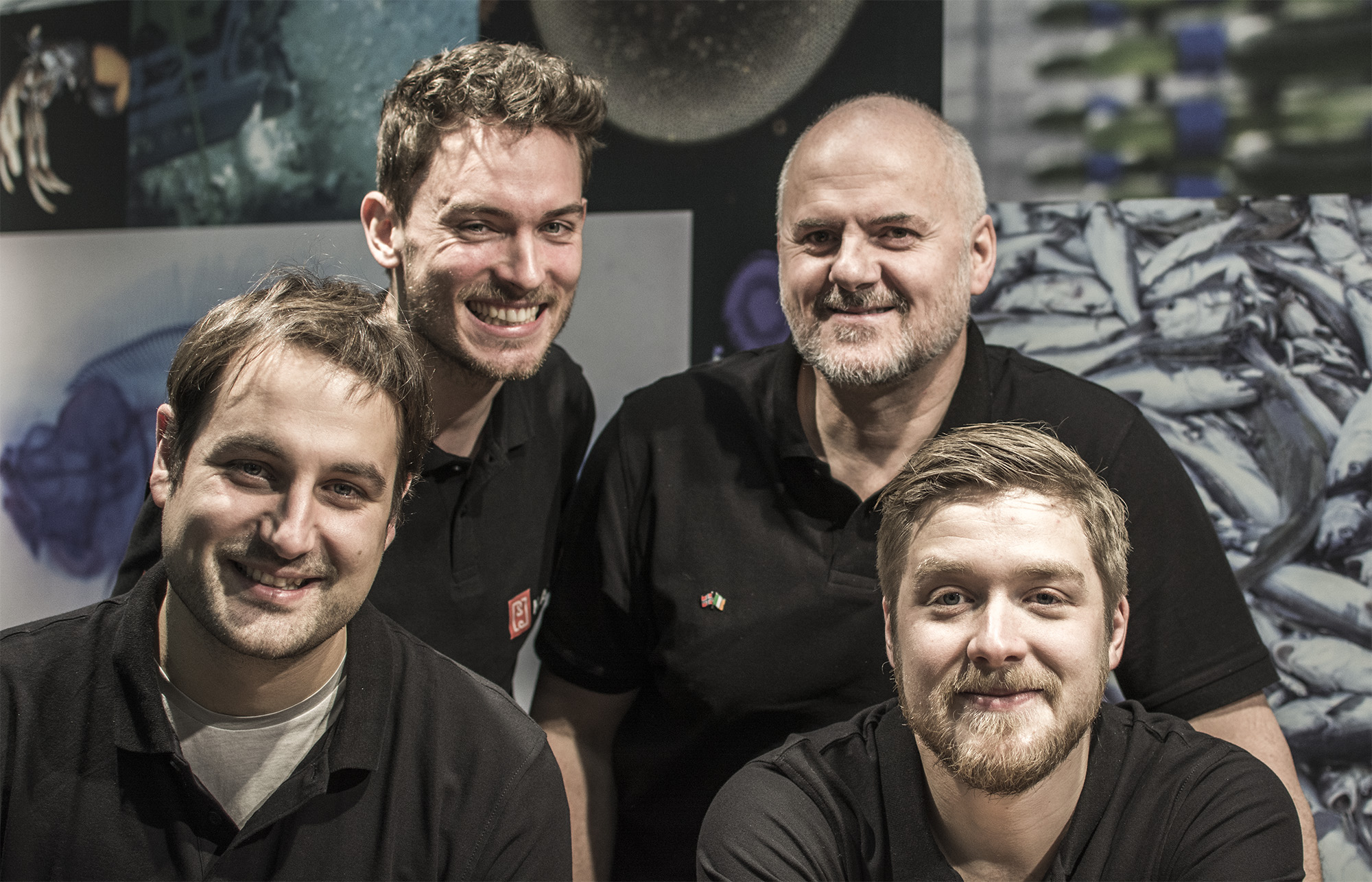 From the left: Carsten (XYZ), Georg (XYZ), Wayne (XYZ) and Emil (XYZ)