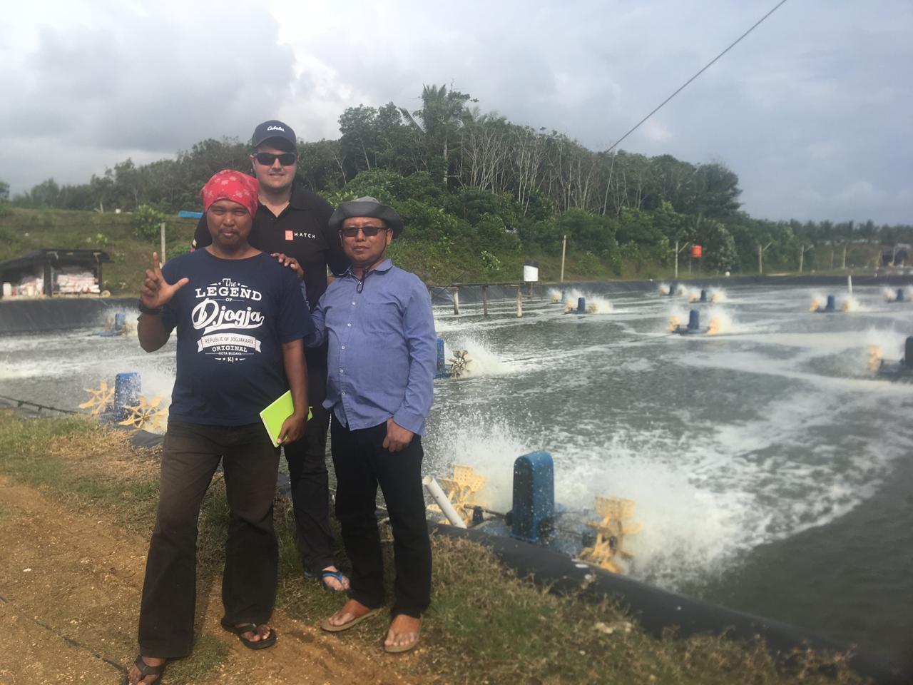 HATCH visiting shrimp farmers in Indonesia