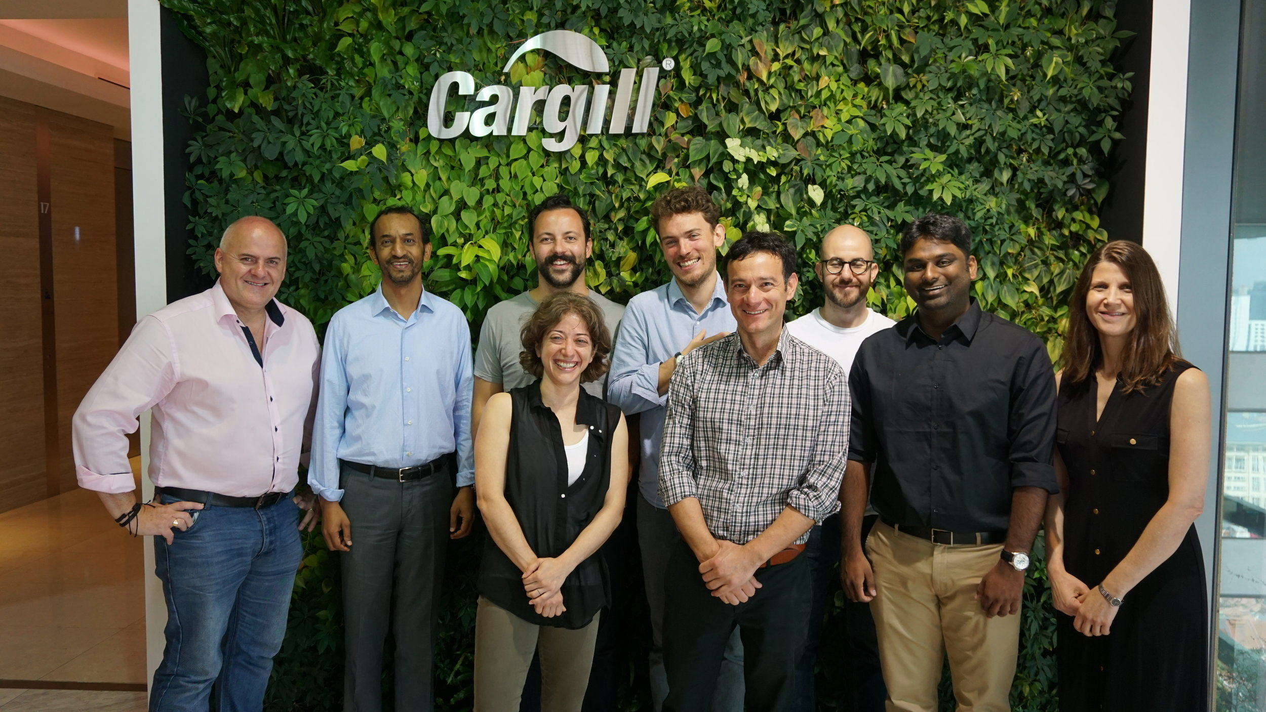 The HATCH team and part of their last cohort visiting the Cargill offices in Bergen