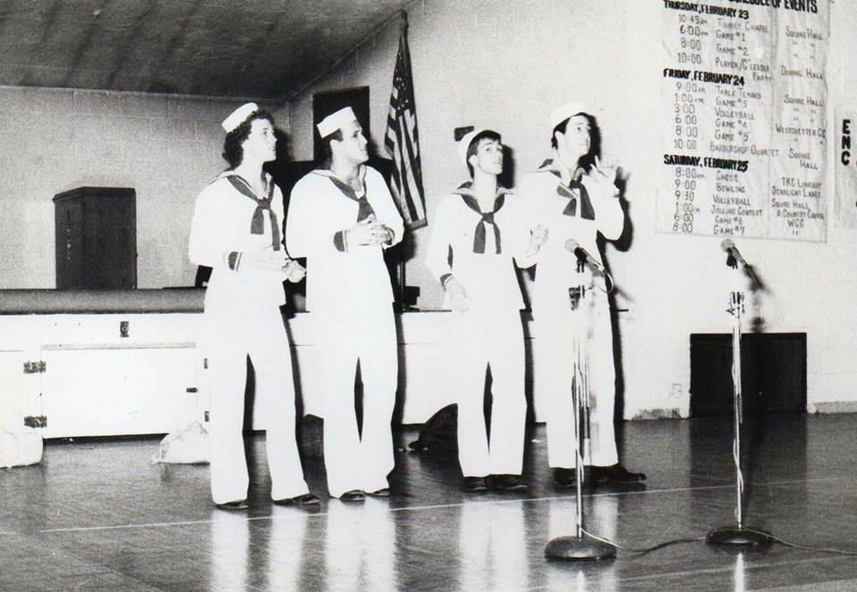 Pastor Ron singing Barbershop ... in college ... circa 1982  He still sings with the Bogmeisters in Cranberry today!  Their next concert is March 5th.