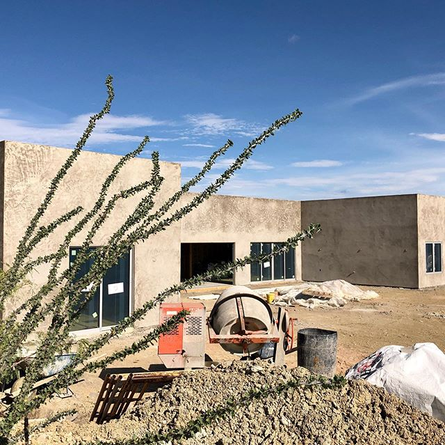 Stucco base coat on our Terlingua project