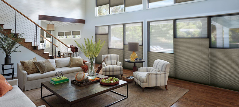 Why choose cellular shades for your home? - Our original energy-efficient honeycomb designs. Available in an impressive range of light-control fabrics from sheer to opaque. Select from hundreds of colours and textures.