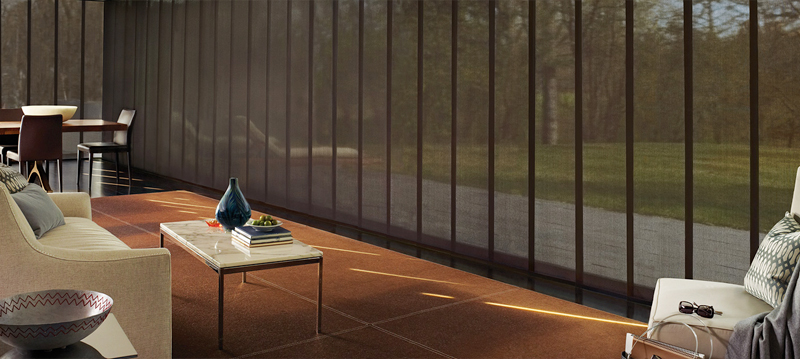 Why choose our vertical blinds for your home? - Why choose our vertical blinds for your home? Smooth, quiet performance. Vertical blinds are ideal for wide window expanses, patio and sliding-glass doors. Select from hundreds of materials, fabrics and colours.
