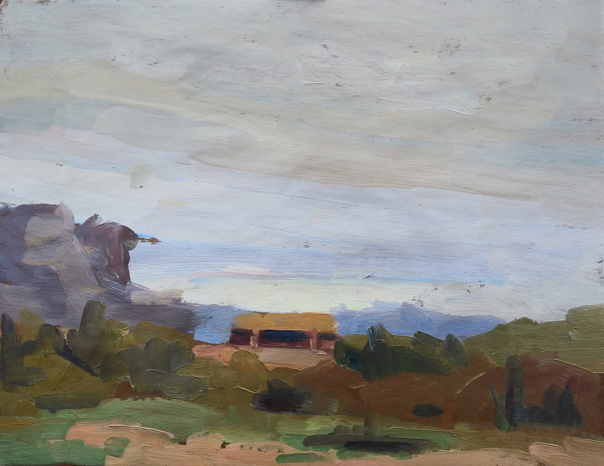 The third sketch from my first day here, done near sunset on one of those rare overcast days Arizona features.