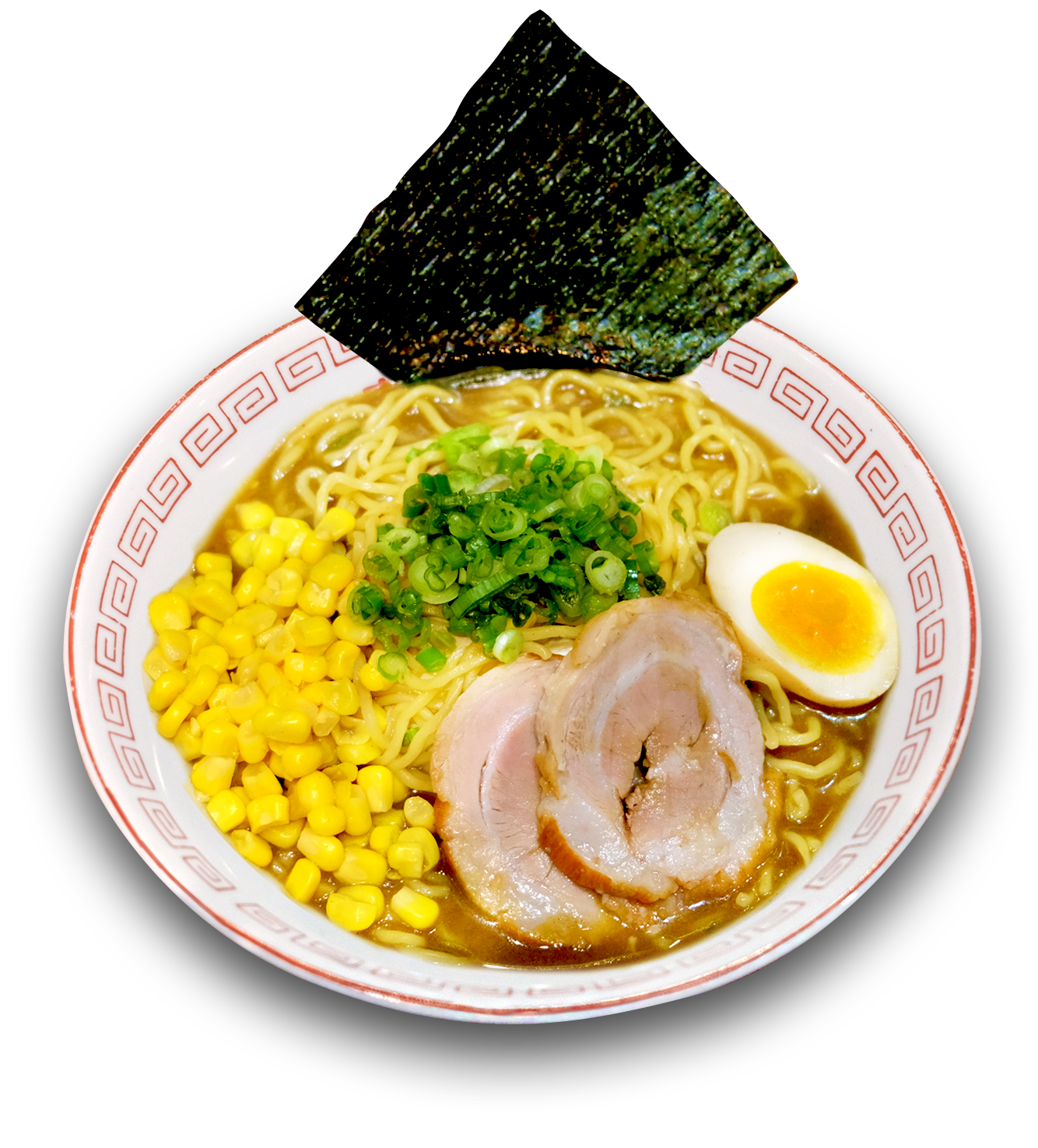 Curry Ramen - Japanese curry flavored chicken broth, roasted pork, egg, corn, scallions and seaweed$12 (Appetizer Combo $17)