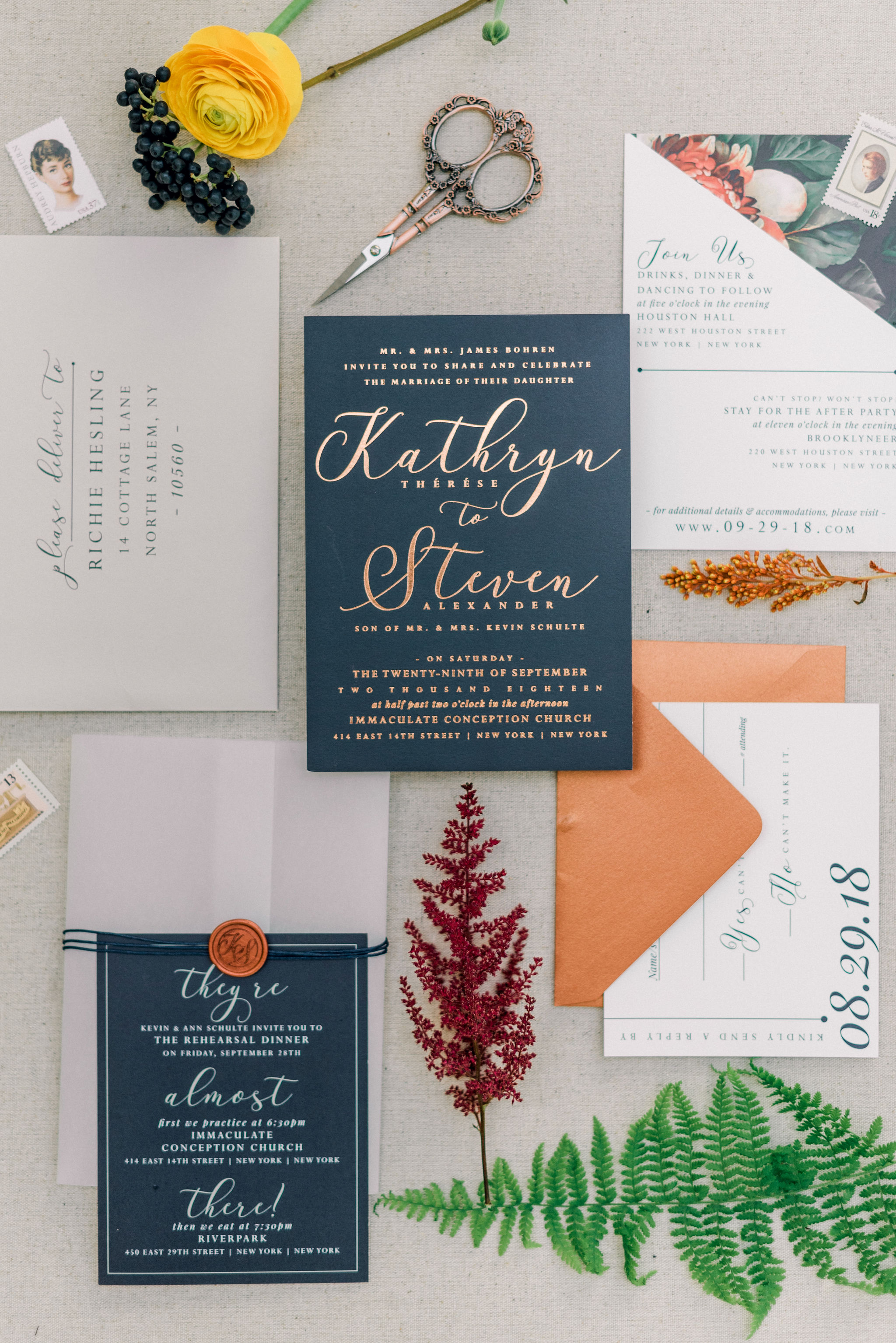 FALL COLORS FOR AN UPSTATE NEW YORK WEDDING