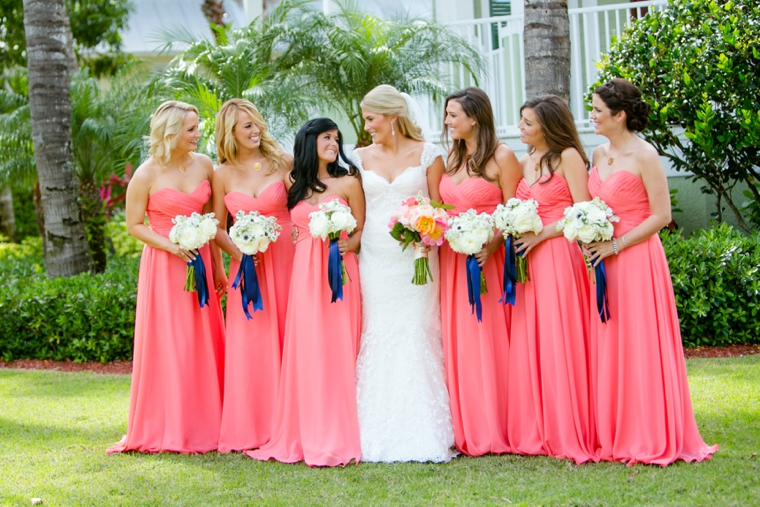 Coral and Navy Wedding Inspiration - set free photography