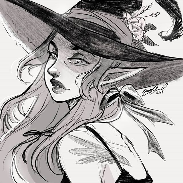 ⭐ FOLLOWER SHOUTOUT 📢 Like and Comment for a chance to get a story shoutout! I will feature 2 followers' art  in approx. 24 hours ♡ - I wanted to post my 30K celebration post today but I can't finish it in time ;w; One of the next posts then!!! Until then I hope you will accept this witchy sketch  w