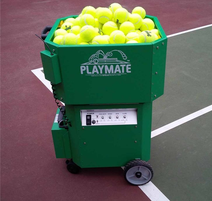 Ball Machine - Ball machine rental is open to the public.Call the shop 24 hours in advance for a reservation. The ball machine may be used on Courts 5, 8, or 9 starting at 11am pending availability.Cost: Members $12/60 min or $10/30min. Non-members $15/60 min or $12/30 min.Please take care to round up the balls at the end of your session! Thank you.