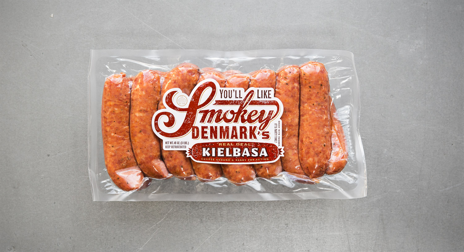 """Kielbasa  It's the Polish word for """"sausage,"""" and we consider ours the real deal. Three pounder!"""
