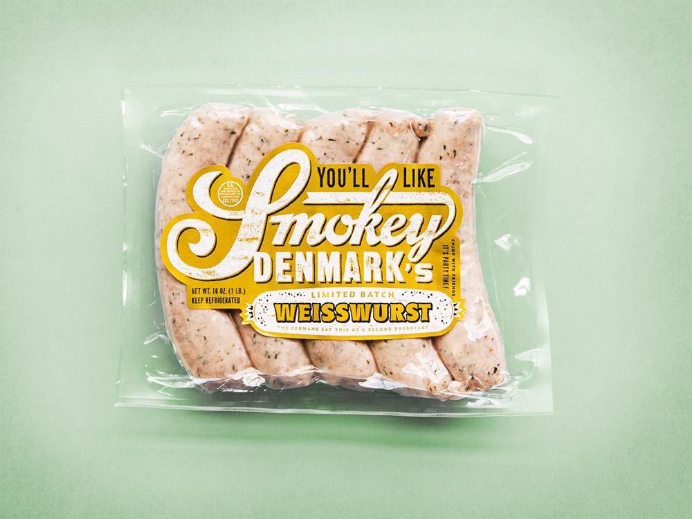 "Weisswurst  German ""second breakfast"" sausage. Serve 'em with pretzels and beer!"