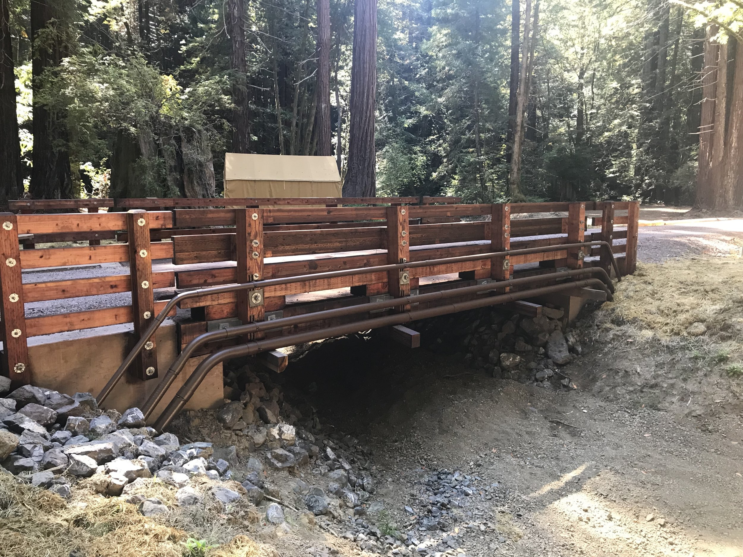 Bridge built over Manly Gulch