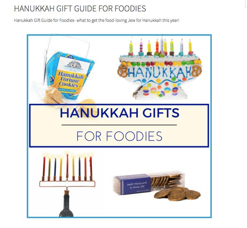Hanukkah Gifts for Foodies