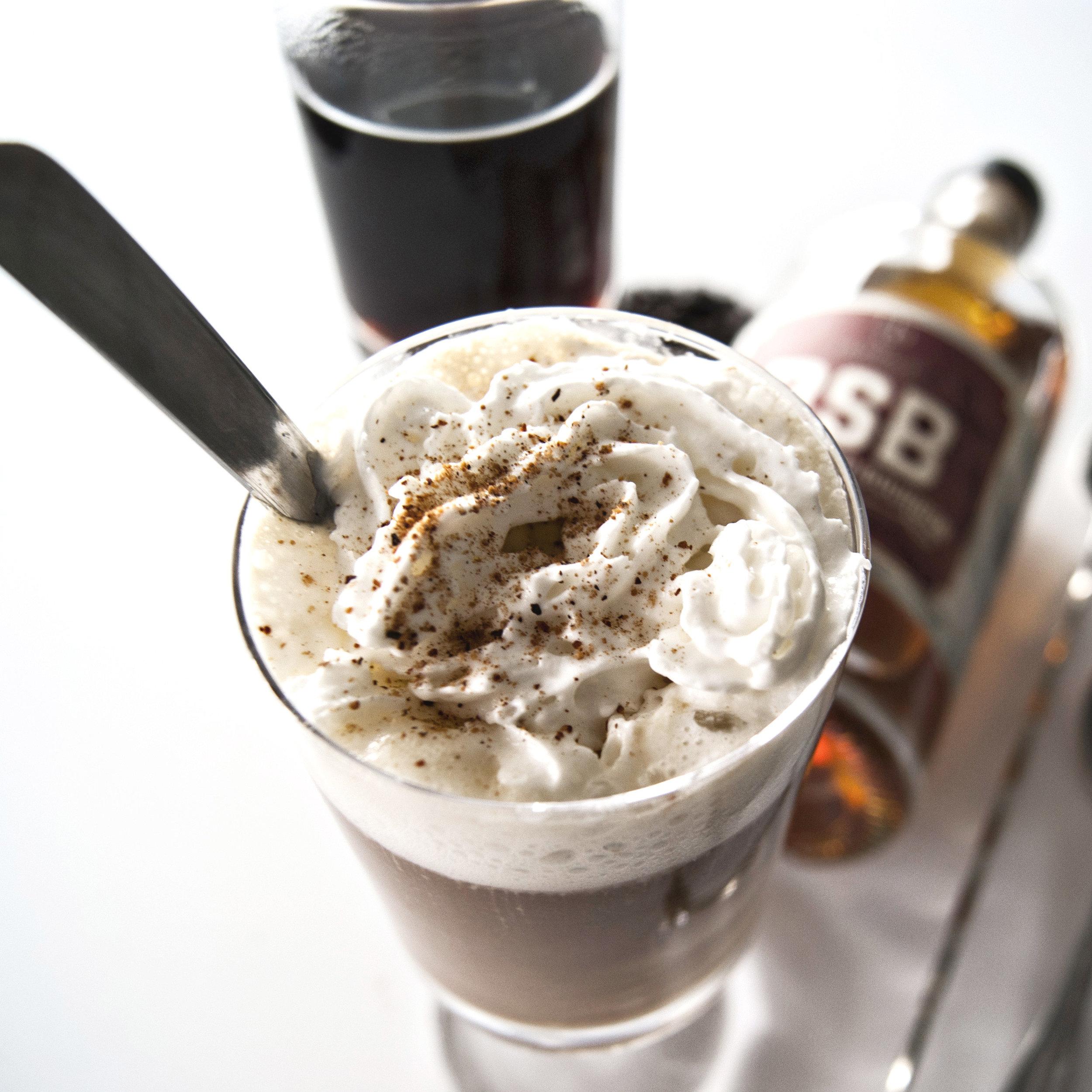 Yum with Sprinkles - Recipe: A cup of freshly brewed dark coffee, 1- 2 oz of B2B (Brown Sugar Bourbon), whip cream. Sprinkle your favorite garnish on top!
