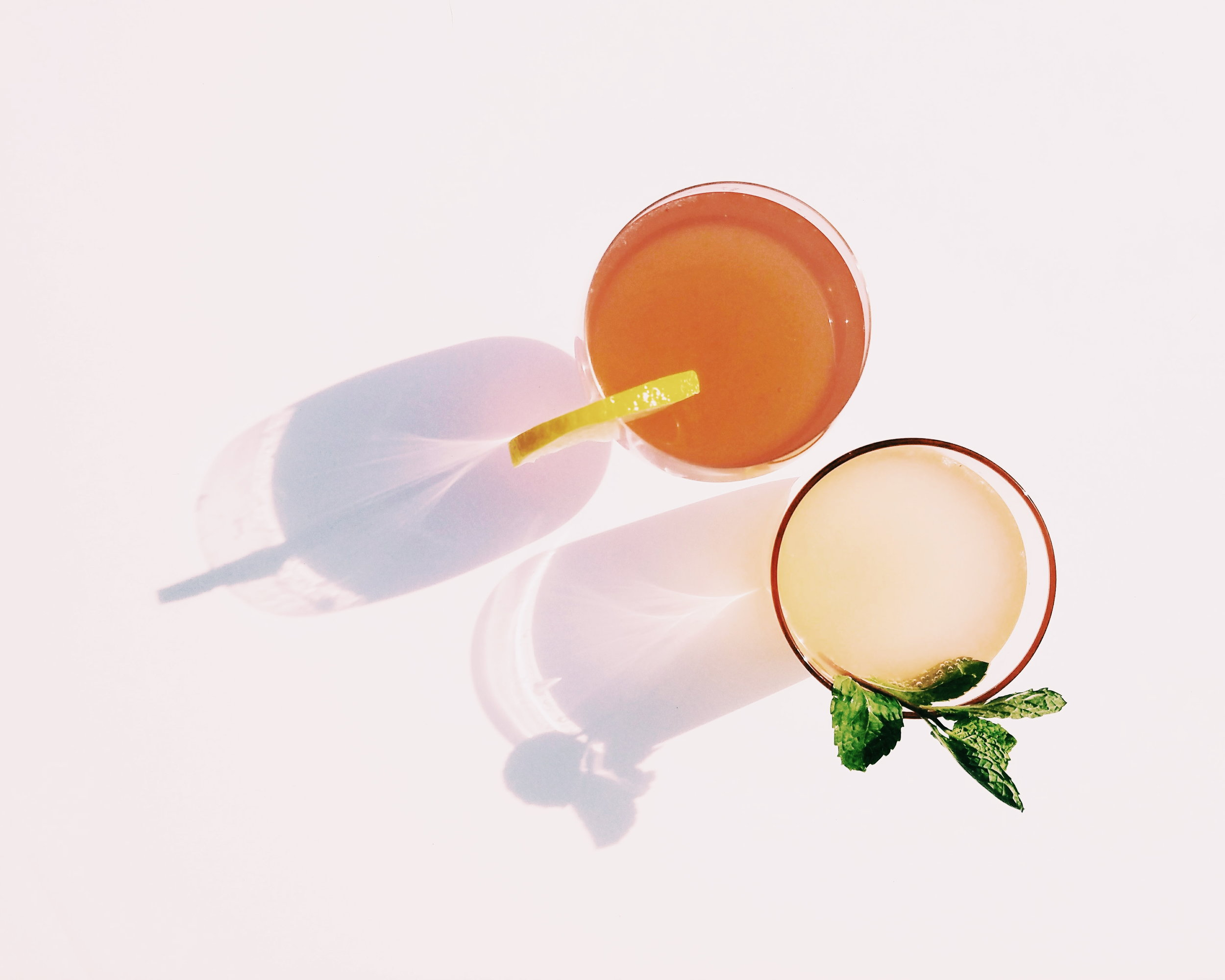 Recipe - 1 Shot of Floral Gin (Bouck Bros)1 splash of mint syrup1/2 squeezed lemontop off with your favorite grapefruit sparkling waterBonus Tip: try a new flavored spritz - mix up for a seasonal taste!