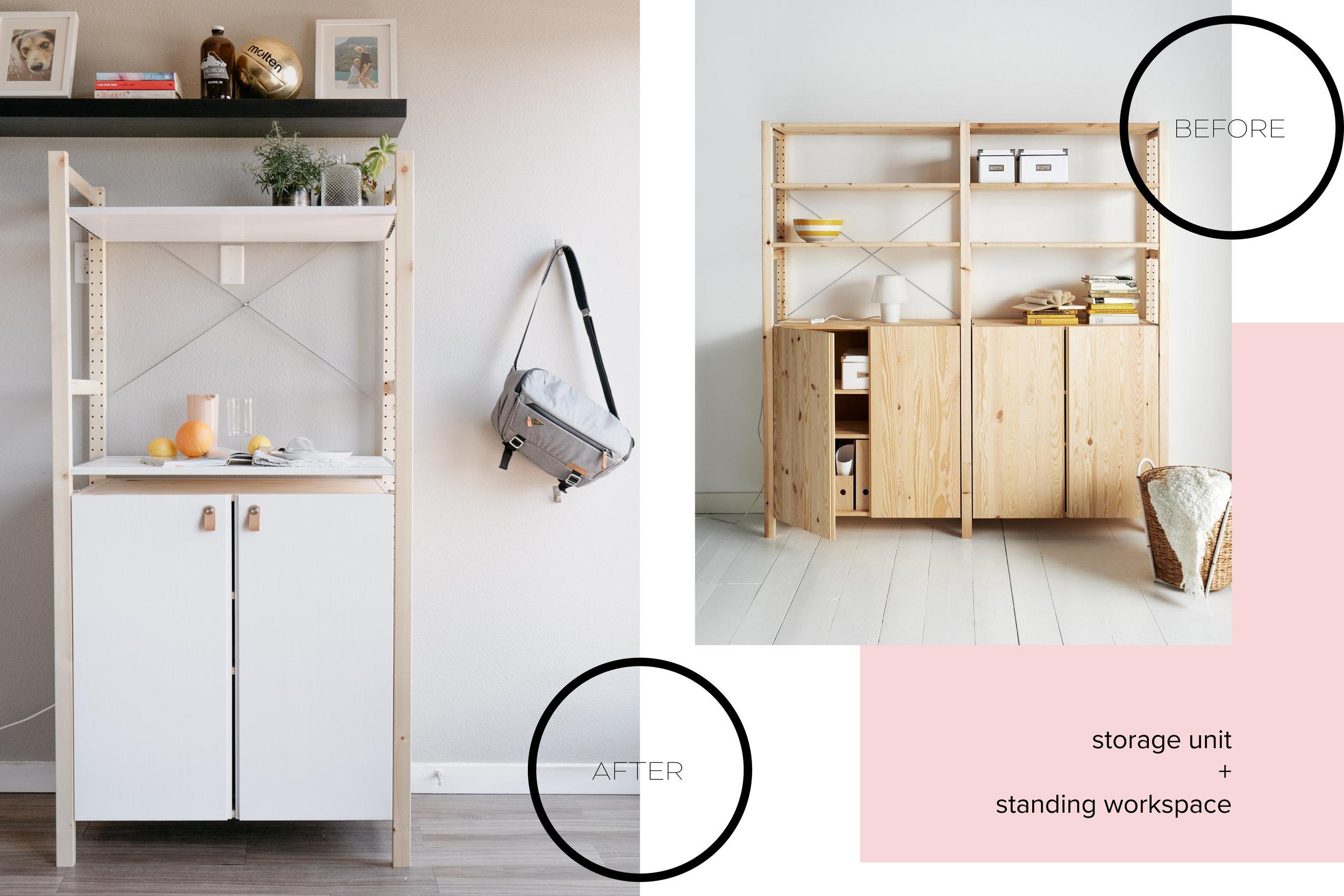 Before and After Ivar Ikea Hack - Macher Studio