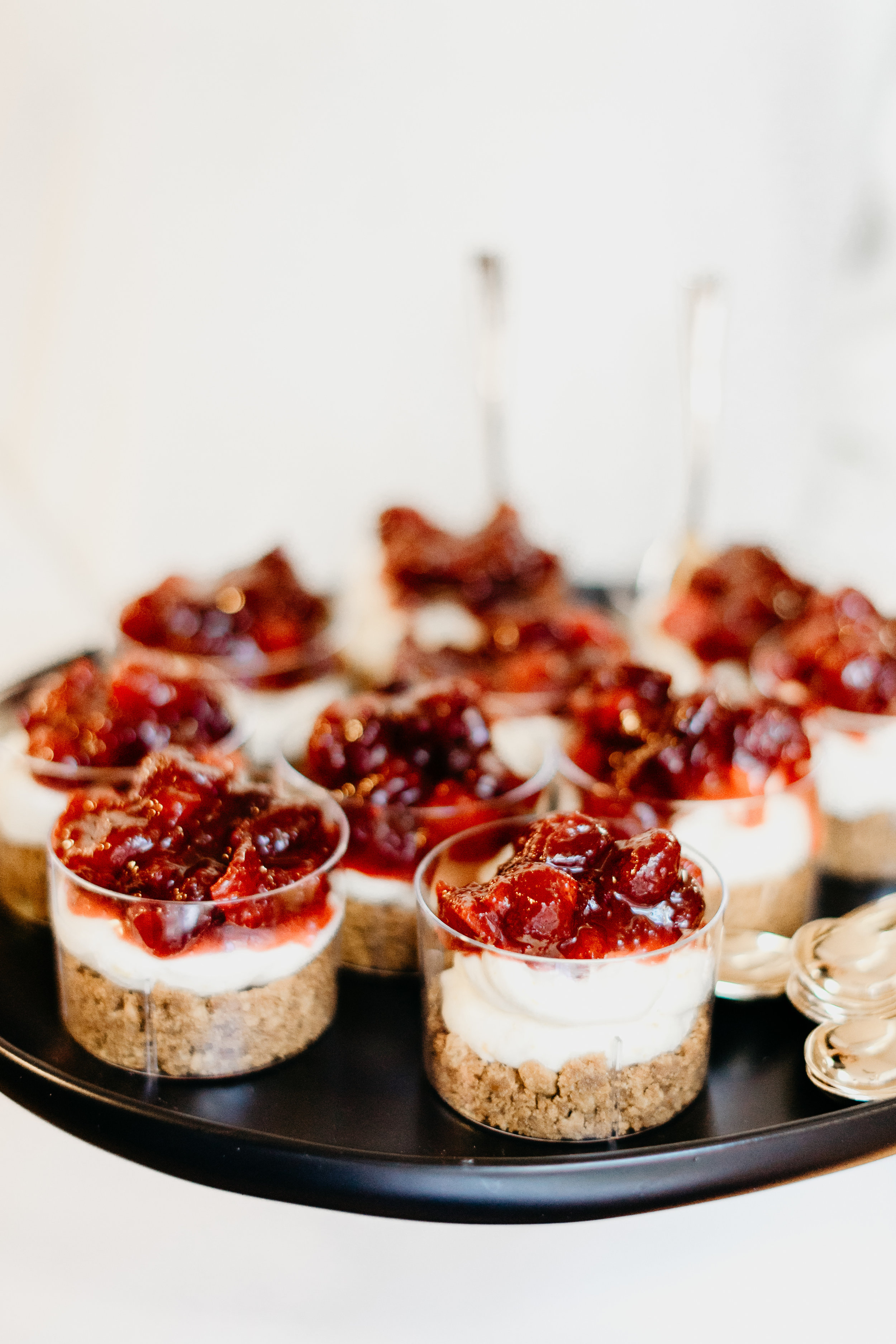 Mini Cranberry Cheesecakes