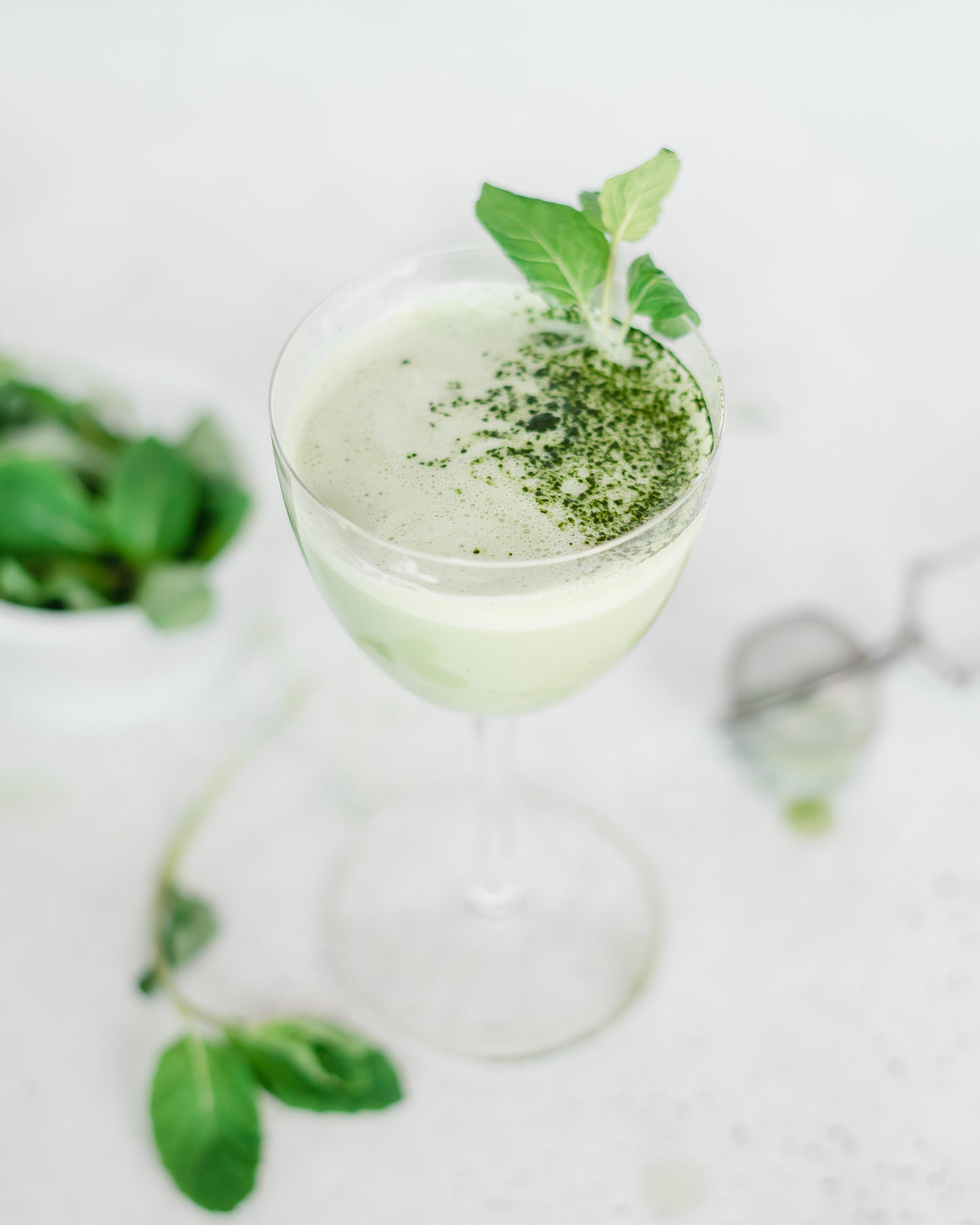 Matcha Grasshopper Cocktail