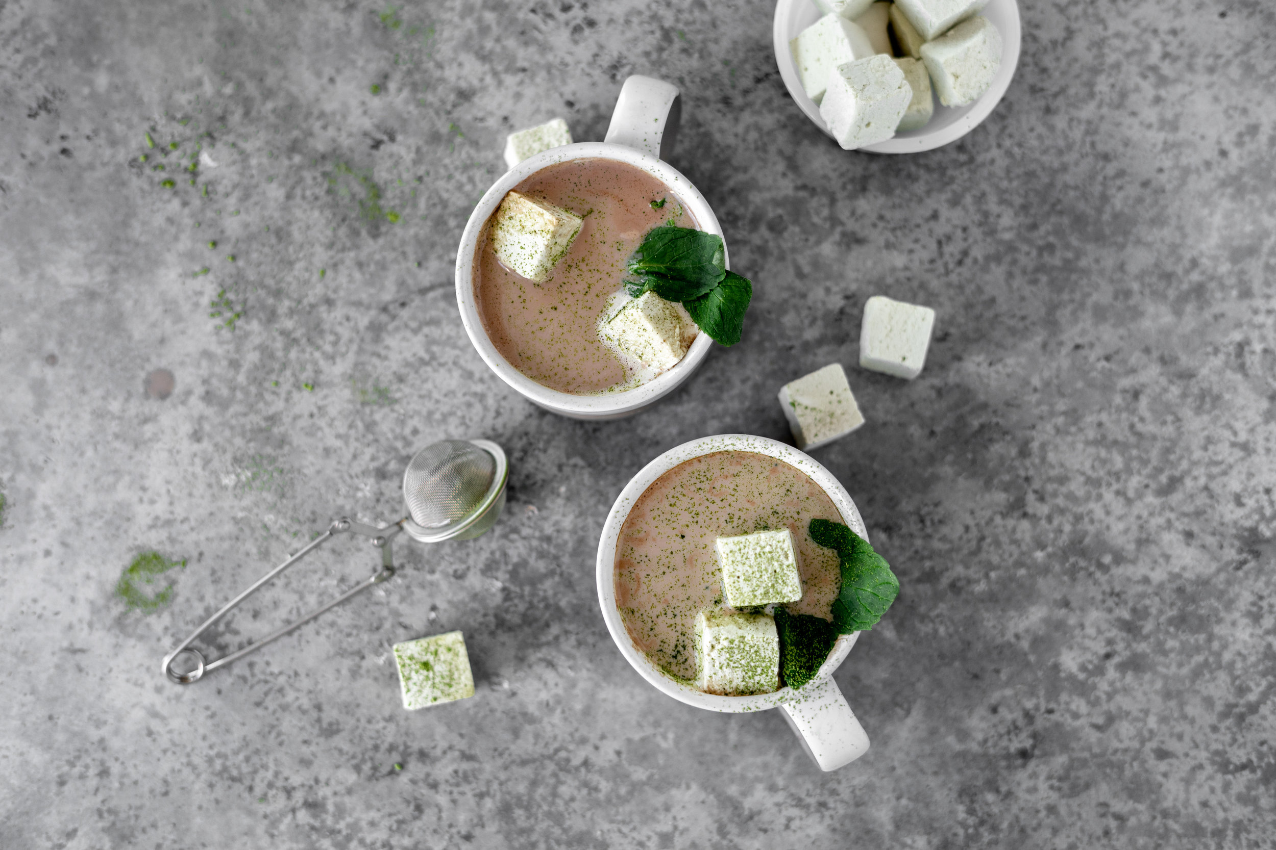 Matcha Marshmellow Hot Chocolate