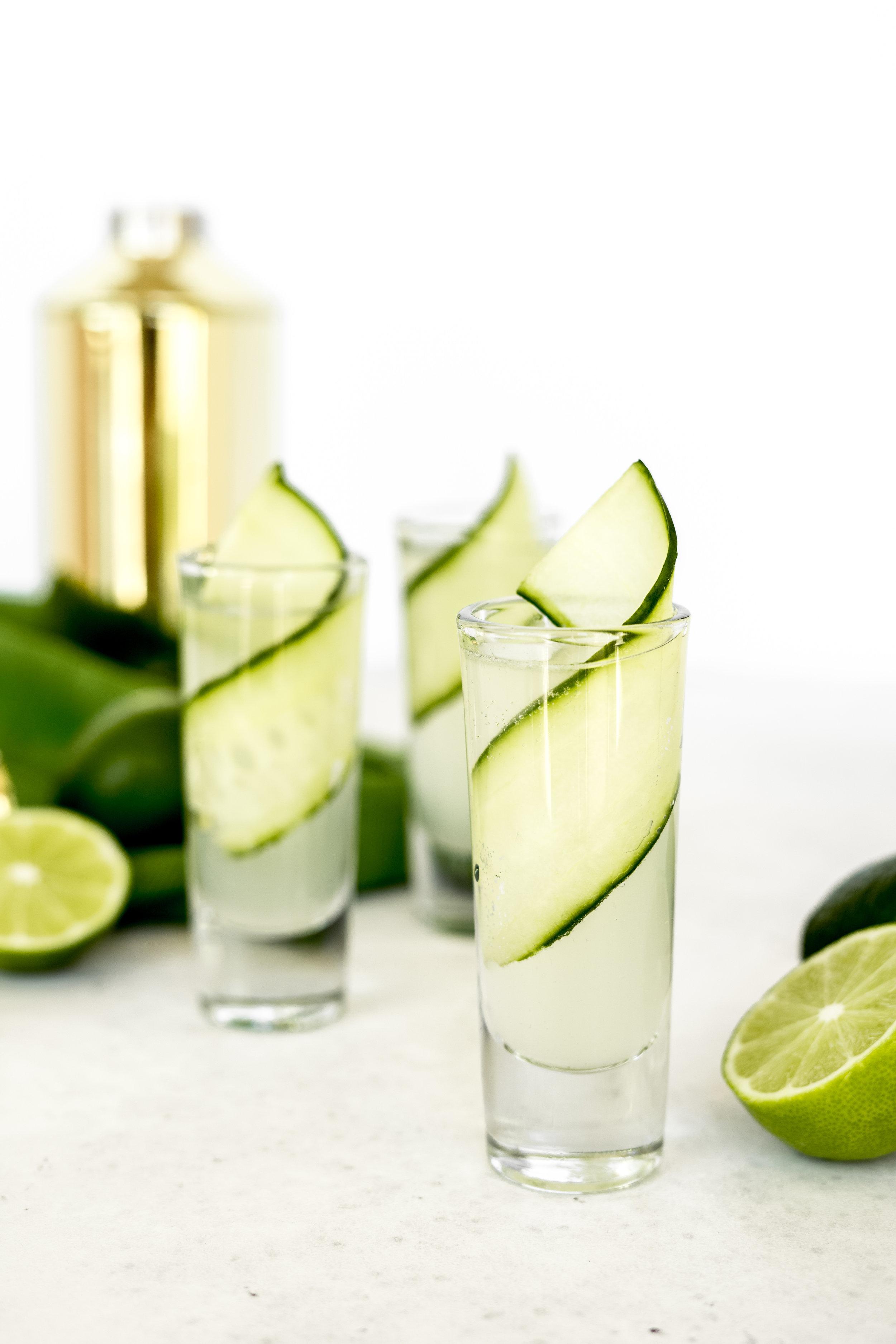 Cucumber Gin Shots