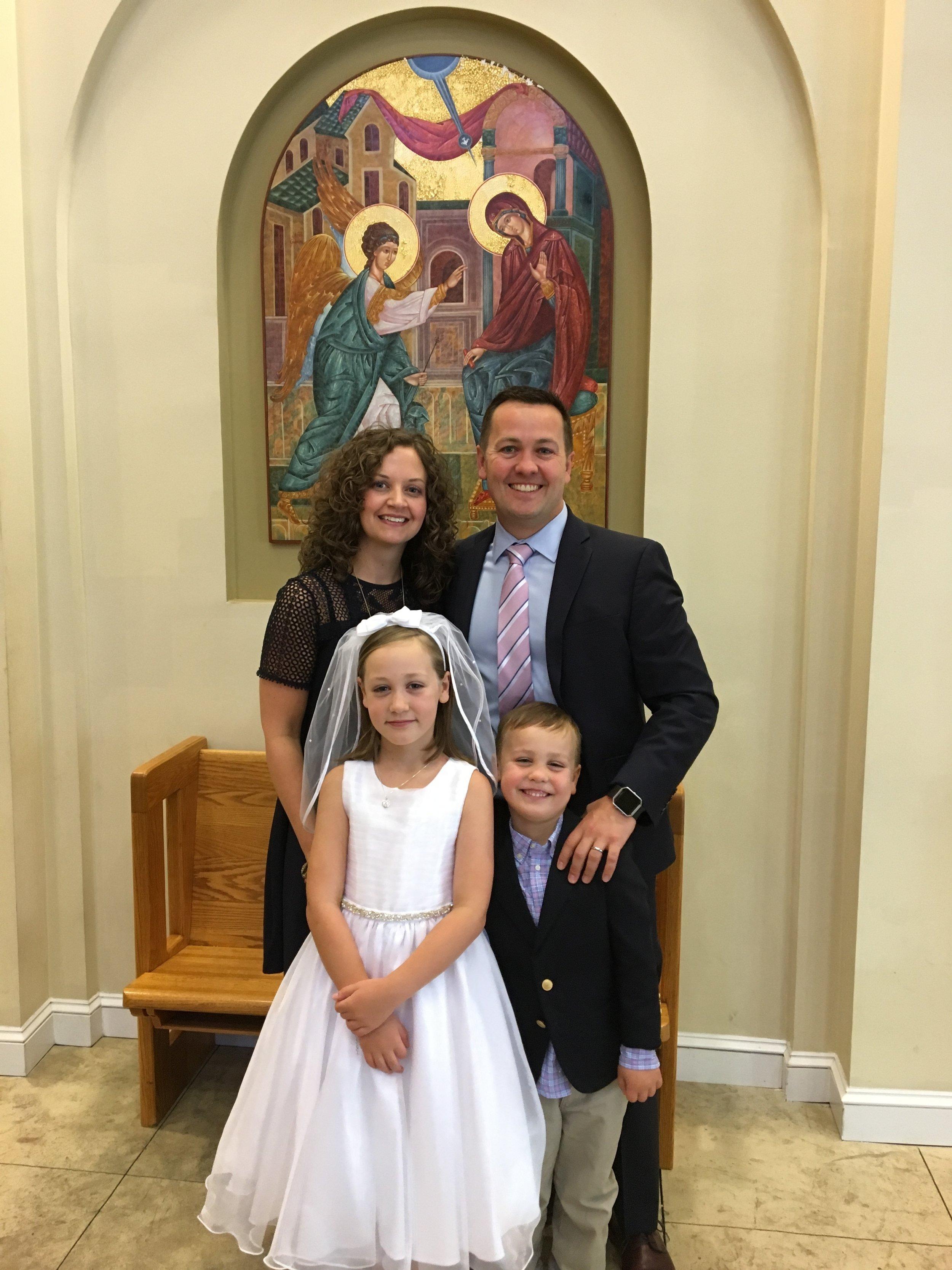 Matt Hegarty and family