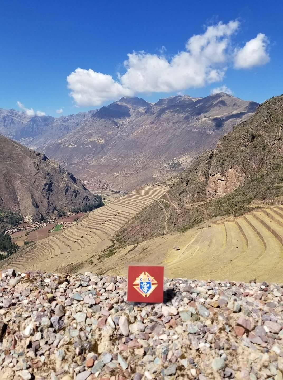 Stuart Brady on Vacation representing Council 4358 in Peru.