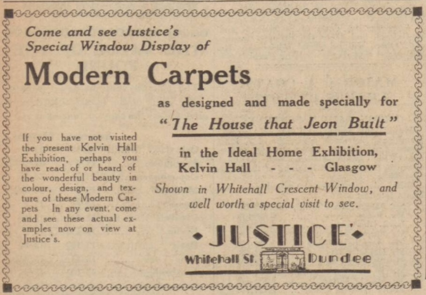 Advertisement in the Dundee Courier - 25th October 1932