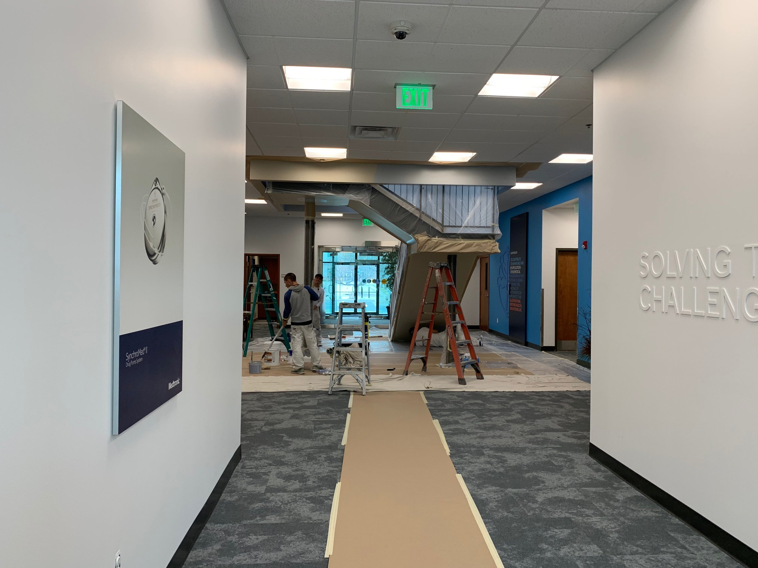 Medtronic building three first floor and core stairwell 4-27-19 #1.JPG