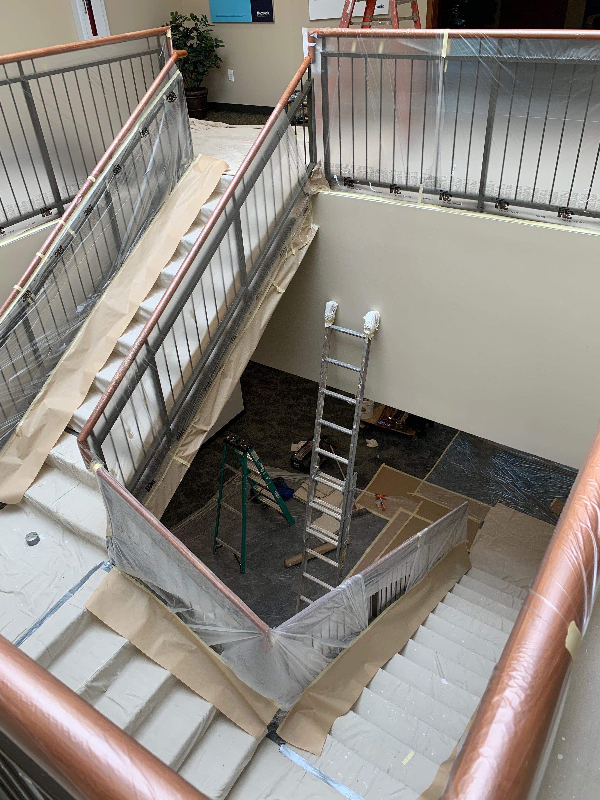 med Tronic core stairwell prep 4-27-19 #3.JPG